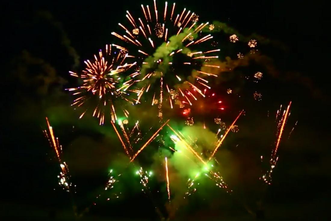 weselny pokaz fajerwerków
